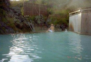 須川温泉と栗駒山